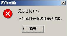 《NTFS分区提示目录结构损坏》