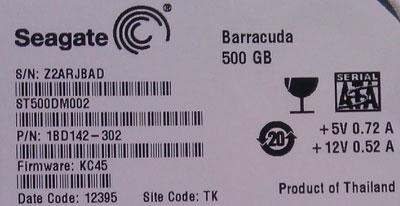 《希捷ST500DM002硬盘KC45不认盘数据恢复》
